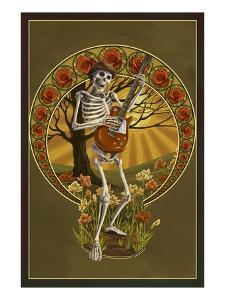 Skeleton and Guitar by Lantern Press
