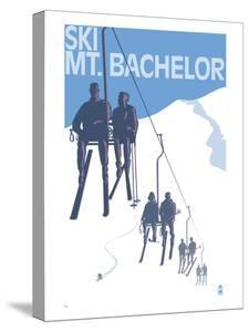 Ski Mt. Bachelor, Oregon - Ski Lifts by Lantern Press