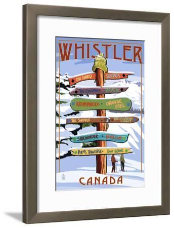 Ski Runs Signpost - Whistler, Canada