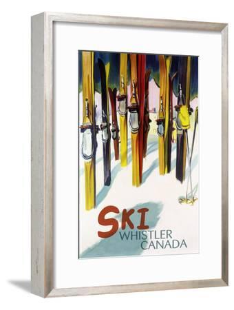 Ski Whistler, Canada - Colorful Skis