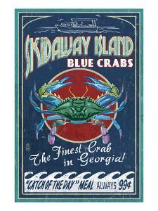 Skidaway Island, Georgia - Blue Crabs by Lantern Press