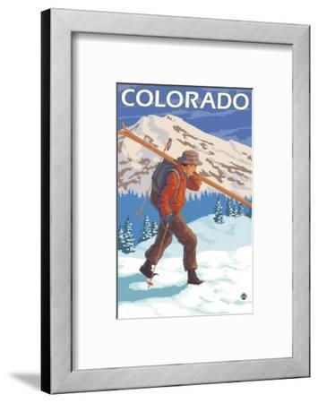 Skier Carrying Skis - Colorado