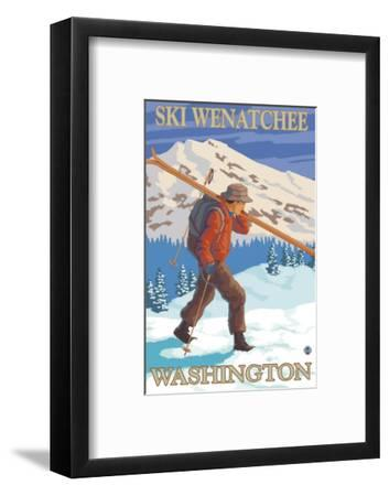 Skier Carrying - Wenatchee, WA