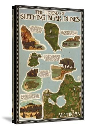 Sleeping Bear Dunes, Michigan - Sleeping Bear Dunes Legend Map