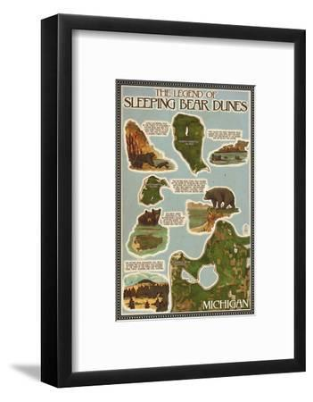 Sleeping Bear Dunes, Michigan - Sleeping Bear Dunes Legend Map