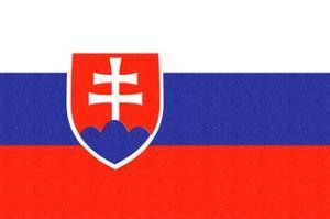 Slovakia Country Flag - Letterpress by Lantern Press