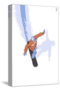 Snowboarder Stylized by Lantern Press