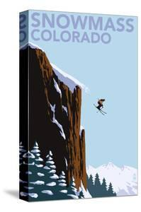 Snowmass, Colorado - Skier Jumping by Lantern Press