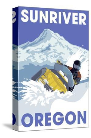 Snowmobile Scene - Sunriver, Oregon