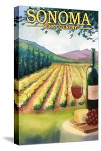 Sonoma County, California Wine Country by Lantern Press