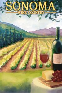 Sonoma County, California Wine Country by Lantern Press