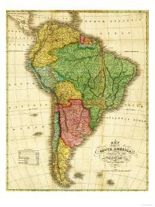 South America - Panoramic Map by Lantern Press