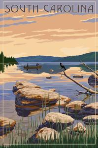 South Carolina - Lake Sunrise Scene by Lantern Press