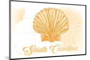 South Carolina - Scallop Shell - Yellow - Coastal Icon by Lantern Press