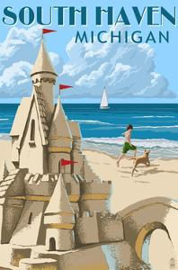 South Haven, Michigan - Sandcastle by Lantern Press