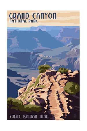 South Kaibab Trail - Grand Canyon National Park by Lantern Press