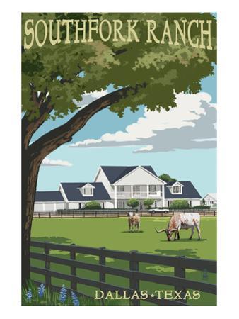 Southfork Ranch - Dallas, Texas by Lantern Press