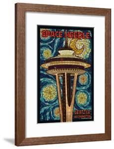 Space Needle Mosaic - Seattle, WA by Lantern Press
