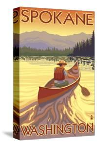 Spokane, Washington, Canoe Scene by Lantern Press