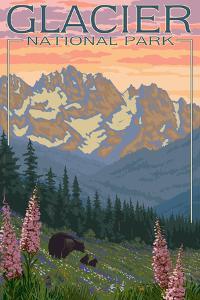 Spring Flowers, Glacier National Park, Montana by Lantern Press