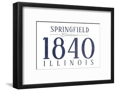 Springfield, Illinois - Established Date (Blue)