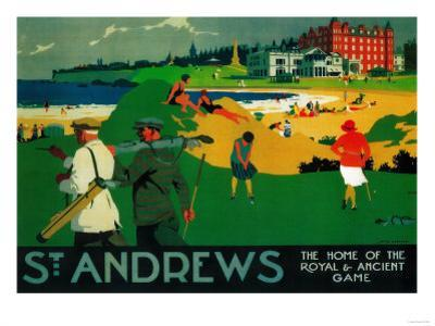 St. Andrews Vintage Poster - Europe