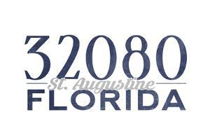 St. Augustine, Florida - 32080 Zip Code (Blue) by Lantern Press