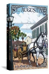 St. Augustine, Florida - Carriage Scene by Lantern Press