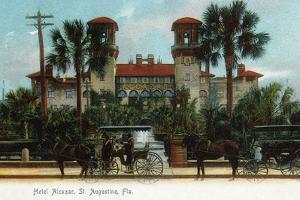 St. Augustine, Florida - Hotel Alcazar Exterior View by Lantern Press