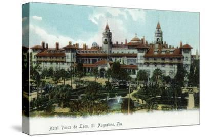 St. Augustine, Florida - Panoramic View of Hotel Ponce De Leon