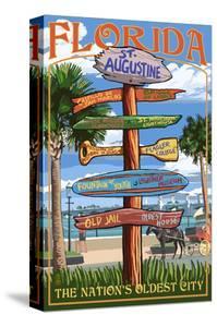 St. Augustine, Florida - Sign Destinations by Lantern Press