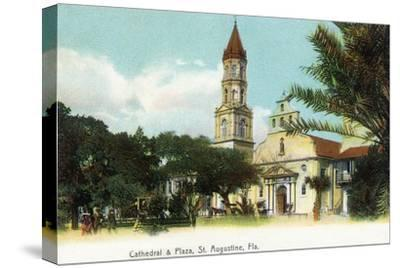 St. Augustine, Florida - View of the Cathedral from the Plaza