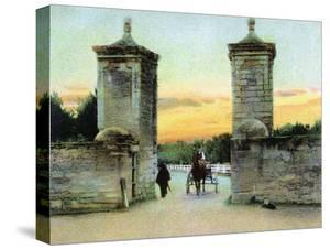 St. Augustine, Florida - View of the Old City Gate by Lantern Press