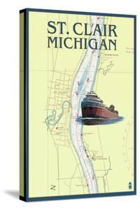 St. Clair, Michigan - Nautical Chart by Lantern Press