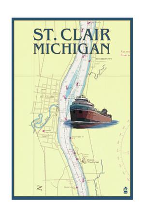St. Clair, Michigan - Nautical Chart