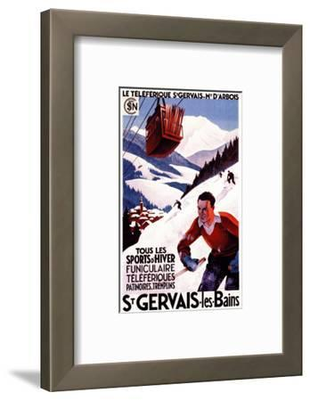 St. Gervais-Les-Bains, France - SNCF Railway Cable Car Promo Poster