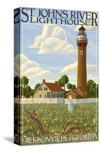 St. Johns River Lighthouse - Jacksonville, Florida by Lantern Press