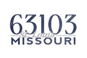 St. Louis, Missouri - 63103 Zip Code (Blue) by Lantern Press