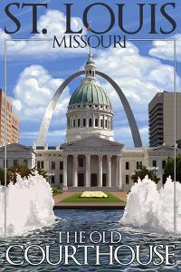 St. Louis, Missouri - Courthouse by Lantern Press