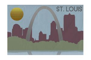 St. Louis, Missouri - Skyline by Lantern Press