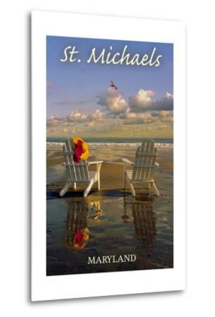 St. Michaels, Maryland - Adirondack Chairs on the Beach