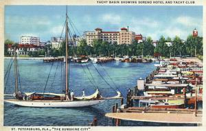 St. Petersburg, Florida - Aerial View of Heart of the City by Lantern Press
