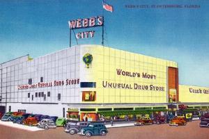 St. Petersburg, Florida - Exterior View of Webb's City Drugstore by Lantern Press