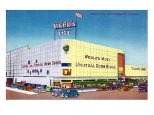 St. Petersburg, Florida - Exterior View of Webb's City Drugstore by Lantern Press