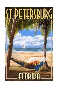 St. Petersburg, Florida - Palms and Hammock by Lantern Press