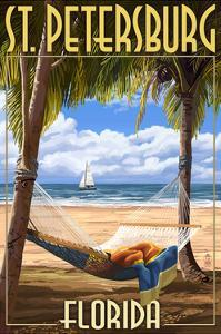 St. Petersburg, Florida - Palms and Hammock by Lantern Press