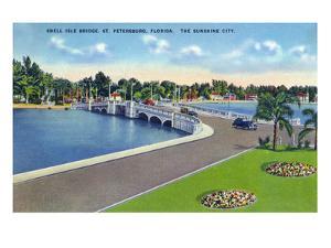 St. Petersburg, Florida - Snell Isle Bridge View by Lantern Press