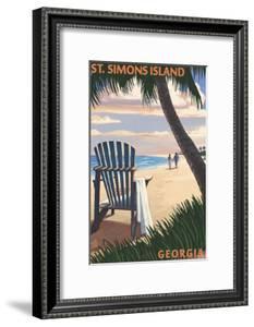 St. Simons Island, Georgia - Adirondack by Lantern Press