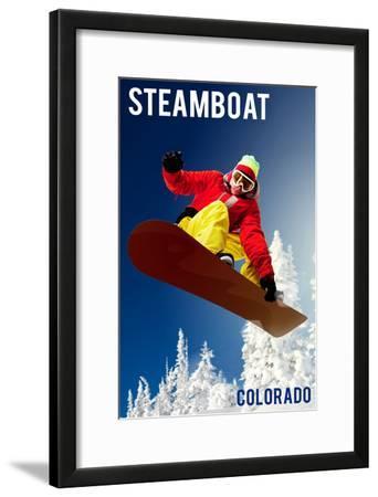 Steamboat, Colorado - Snowboarder