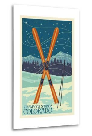 Steamboat Springs, Colorado - Crossed Skis